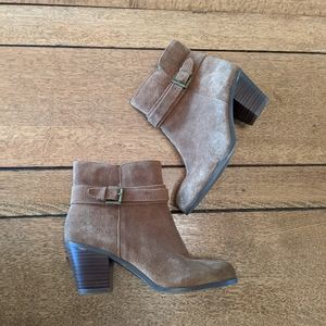 Sam Edelman brown suede ankle boots